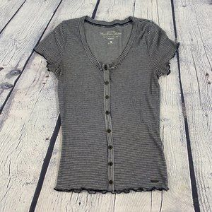 Hollister Henly Tshirt with Button Front Striped